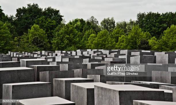 CONTENT] Memorial to the Murdered Jews of Europe in the Holocaust in Berlin formed by 2711 concrete slabs In the background the Tiergarten park