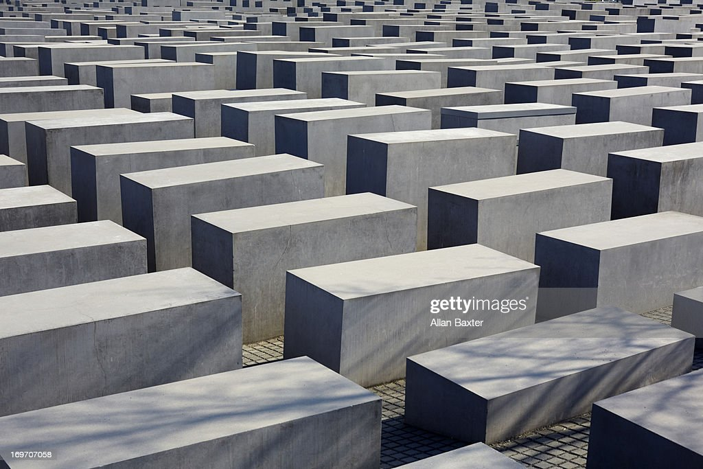 Memorial to the Murdered Jews of Europe : Stock Photo