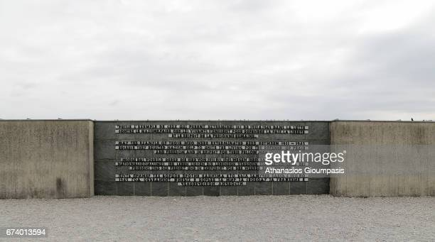 Memorial to the victims of Dachau on April 14 2017 in Dachau Germany Dachau was the first Nazi concentration camp and began operation in 1933 by...