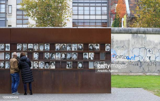 Memorial to the Victims of the Berlin Wall is seen on the 29th anniversary of the fall of the Berlin Wall in Berlin Germany on November 8 2018...