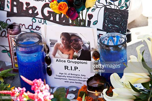 A memorial was held for Alice Gruppioni who was visiting Venice on her honeymoon and was killed by a deranged driver on the Venice Beach boardwalk...