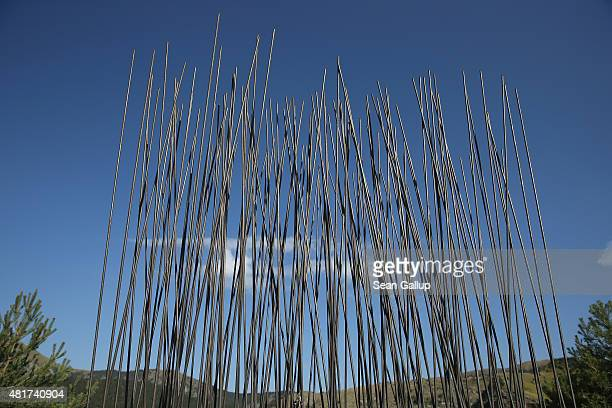 A memorial with 149 steel rods commemorates the 149 victims of Germanwings flight 4U9525 that crashed on March 24 killing all 150 people on board on...
