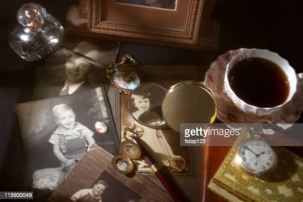Memories collection. Antique, vintage photographs, collectibles.