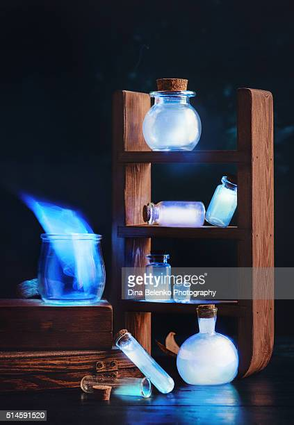 memories in a jar - potion stock photos and pictures