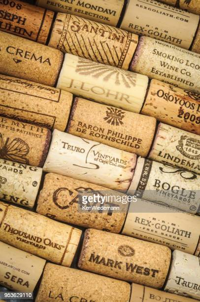 memories of fine wines - cork stopper stock photos and pictures