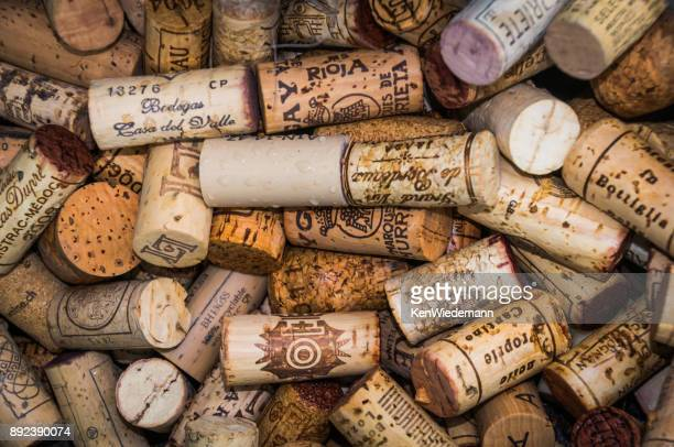 memories of happy times - wine cork stock photos and pictures