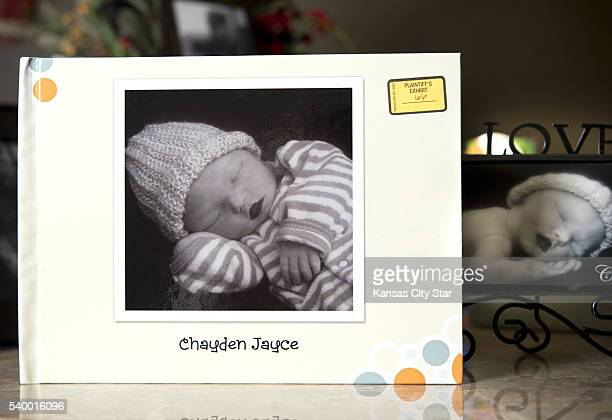 A memory box with a photo of Chayden Jayce McFadden was submitted as 'Plaintiff's Exhibit 66' during a recent trial where Johnna Hughes of Kansas...