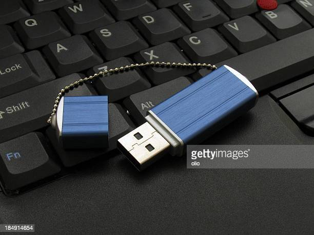 USB memory drive on keyboard