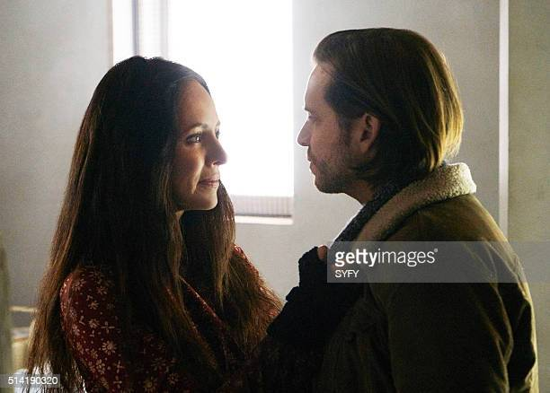 12 MONKEYS Memory of Tomorrow Episode 213 Pictured Madeleine Stowe as Dr Kathryn Railly Aaron Stanford as James Cole