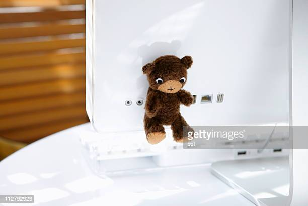 USB memory stick of teddy bear