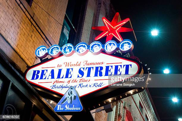 Memphis Beale Street Locational Neon Welcome Sign Tennessee USA