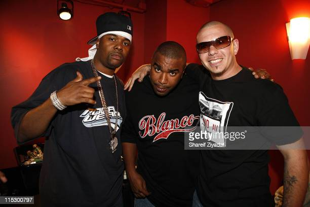 Memphis Bleek Nore and Pitbull during Pitbull and Nore Reggaeton Concert at Nokia Theater in New York May 21 2006 at Nokia Theater in New York City...