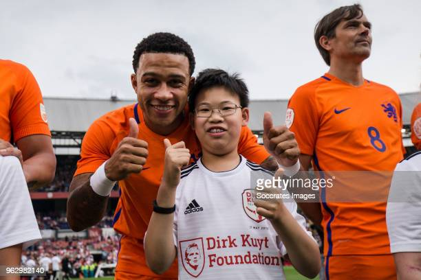 Memphis Depay during the Dirk Kuyt Testimonial at the Feyenoord Stadium on May 27 2018 in Rotterdam Netherlands