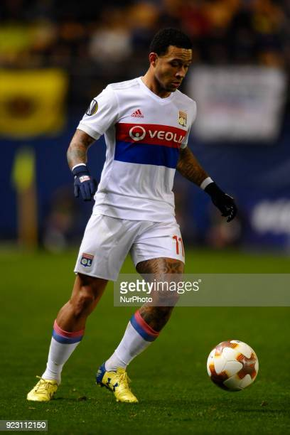 Memphis Depay during the match between Villarreal CF against Olympique of Lyon Round of 32 2nd leg of UEFA Europa League at Ceramica stadium...