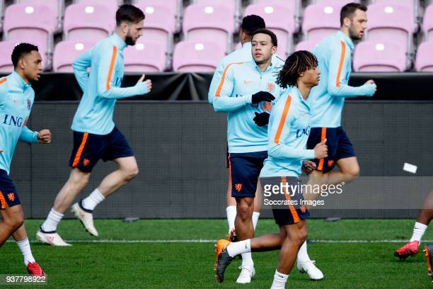 Memphis Depay of Holland during the Training Holland in Geneve at the Stade de Geneve on March 25 2018 in Geneve Switzerland