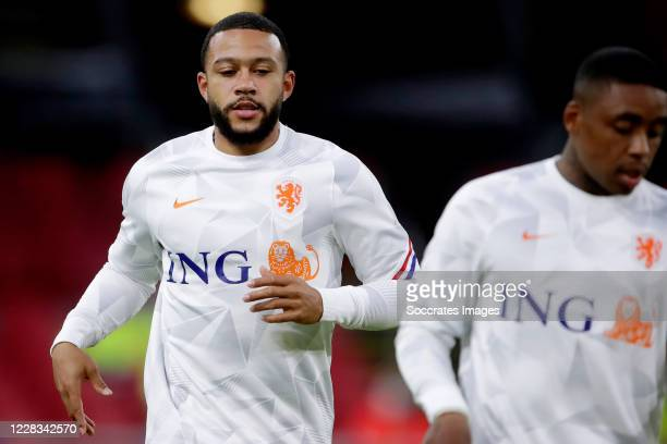 Memphis Depay of Holland during the UEFA Nations league match between Holland v Poland at the Johan Cruijff ArenA on September 4, 2020 in Amsterdam...
