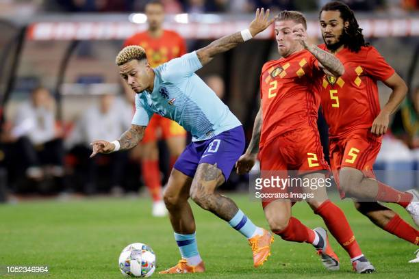 Memphis Depay of Holland Toby Alderweireld of Belgium during the International Friendly match between Belgium v Holland on October 16 2018