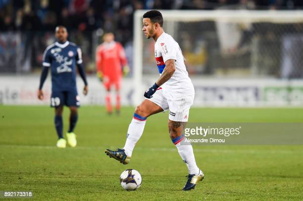 Memphis Depay of Lyon during the french League Cup match Round of 16 between Montpellier and Lyon on December 13 2017 in Montpellier France
