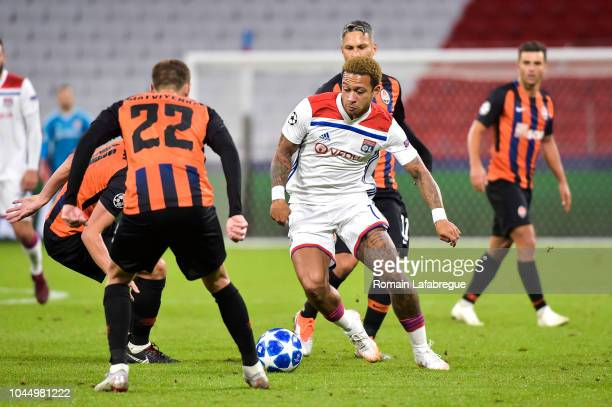 Memphis Depay of Lyon during the UEFA Champions League match between Lyon and Shakhtar Donetsk at Parc Olympique on October 2 2018 in Lyon France