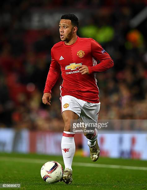 Memphis Depay of Manchester United during the UEFA Europa League match between Manchester United FC and Feyenoord at Old Trafford on November 24 2016...
