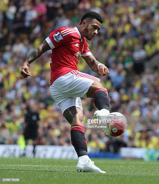 Memphis Depay of Manchester United in action during the Barclays Premier League match between Norwich City and Manchester United at Carrow Road on...