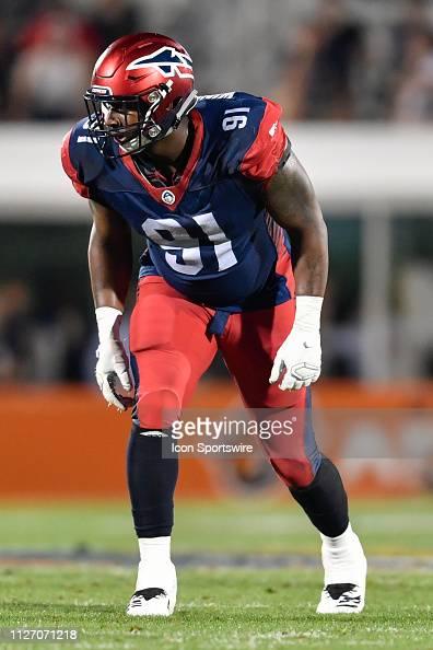 Memphis Express defensive end Jamichael Winston, Sr. during the ...