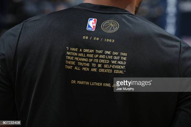 Memphis Grizzlies and NBA celebrate Black History Month during the game against the Los Angeles Lakers on January 15 2018 at FedExForum in Memphis...