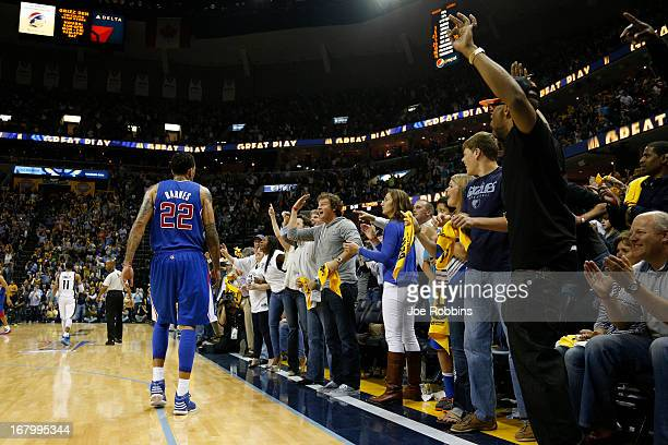 Memphis Grizzlies fans taunt Matt Barnes of the Los Angeles Clippers during Game Six of the Western Conference Quarterfinals of the 2013 NBA Playoffs...