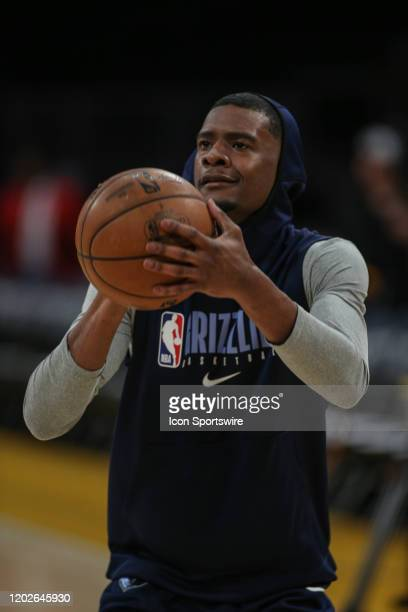 Memphis Grizzlies guard Josh Jackson lines up for a shot before the Memphis Grizzlies vs Los Angeles Lakers game at Staples Center on Friday February...