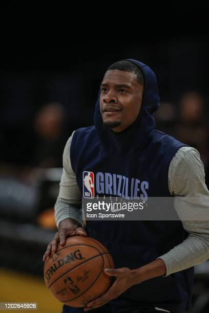 Memphis Grizzlies guard Josh Jackson sets up for a shot before the Memphis Grizzlies vs Los Angeles Lakers game at Staples Center on Friday February...