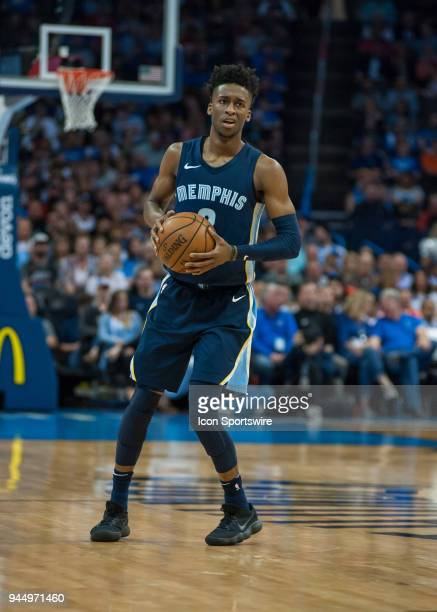 Memphis Grizzlies Guard Kobi Simmons looking to make a play versus Oklahoma City Thunder on April 11, 2018 at Chesapeake Energy Arena in Oklahoma...