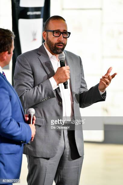 Memphis Grizzlies head coach David Fizdale speaks onstage during the Beyond Sport United conference at BRIC House on July 27 2017 in Brooklyn New York