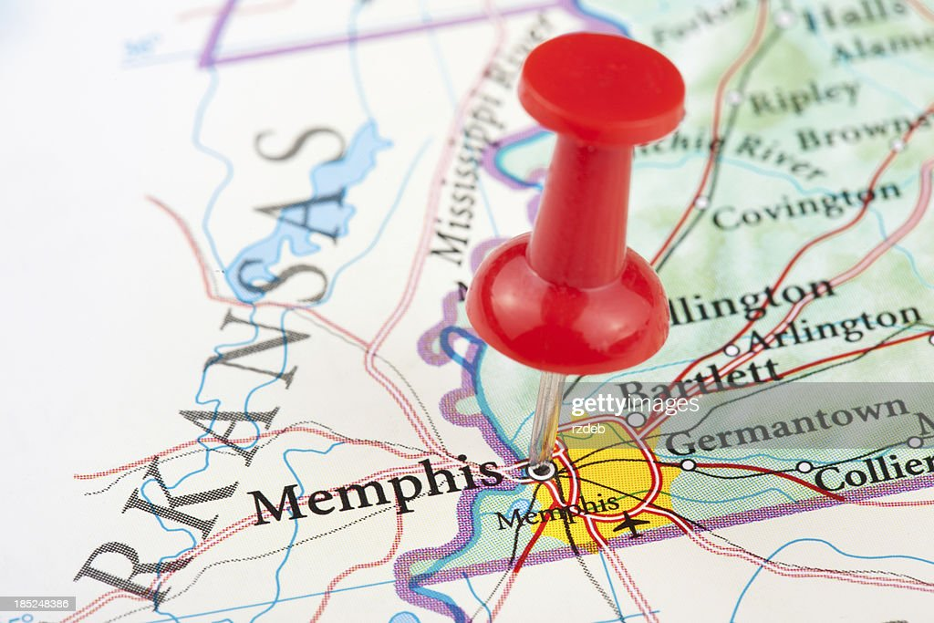 Memphis Map Tennessee Usa Stock Photo | Getty Images