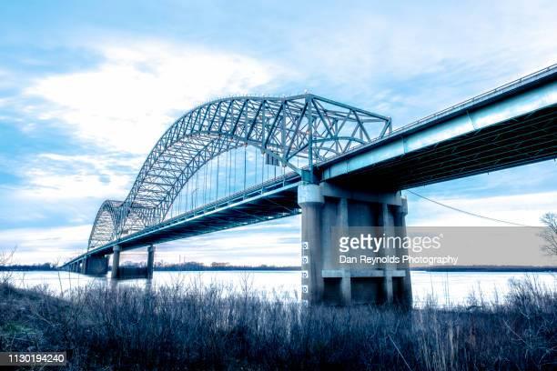 memphis - memphis bridge stock photos and pictures