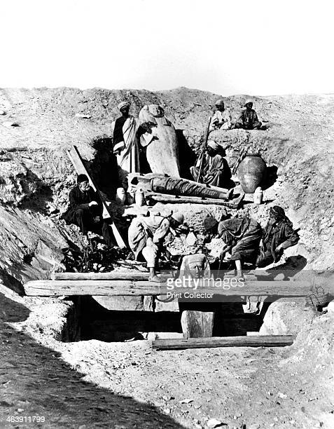 Memphis Saqqara Egypt 1893 Photograph by French archaeologist Auguste MarietteBey La HauteEgypt 1893