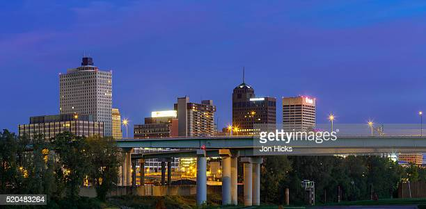memphis, tennessee. - memphis bridge stock photos and pictures
