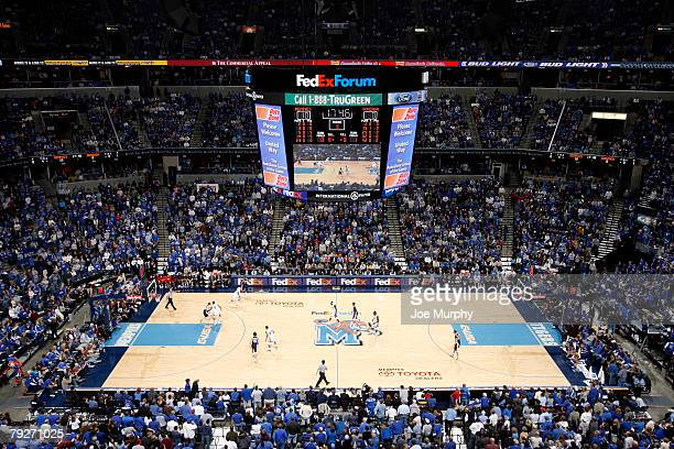 Memphis Tiger fans fill the stadium for a game against the Gonzaga Bulldogs at FedExForum on January 26, 2008 in Memphis, Tennessee.