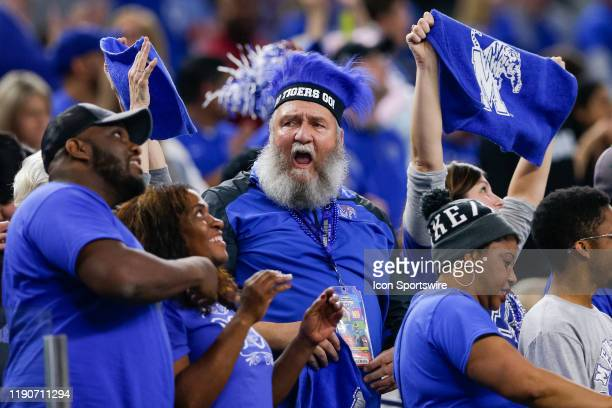 Memphis Tigers fans cheer on their team during the Cotton Bowl Classic between the Memphis Tigers and Penn State Nittany Lions on December 28 2019 at...