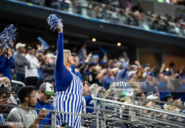 Memphis Tigers fans during the Goodyear Cotton Bowl Classic at ATT Stadium on December 28 2019 in Arlington Texas