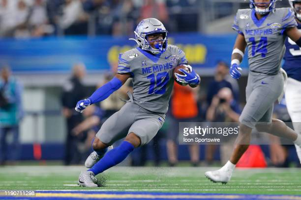 Memphis Tigers running back Kenneth Gainwell runs with the ball during the Cotton Bowl Classic between the Memphis Tigers and Penn State Nittany...