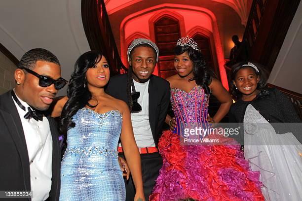 Memphitz Wright Antonia Wright Dewayne Lil Wayne Carter Reginae Carter and Mikkya Wright attend Reginae Carter's 13th Birthday party at The...