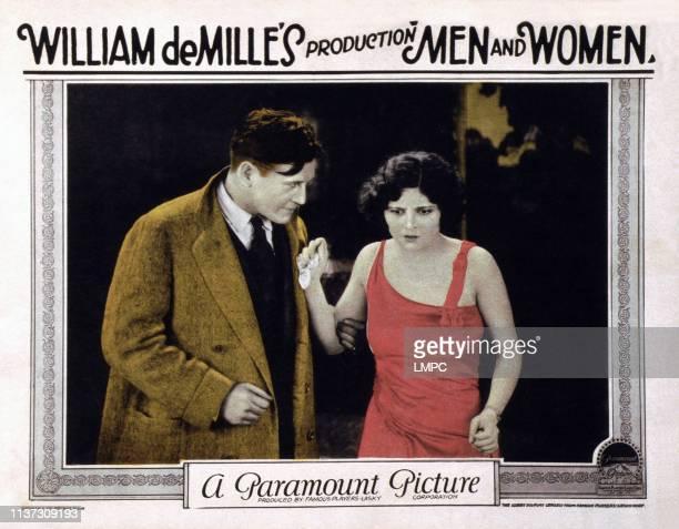 Men Adn Women US lobbycard from left Richard Dix Claire Adams 1925