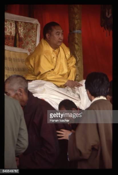 men and panchen lama - only men stockfoto's en -beelden