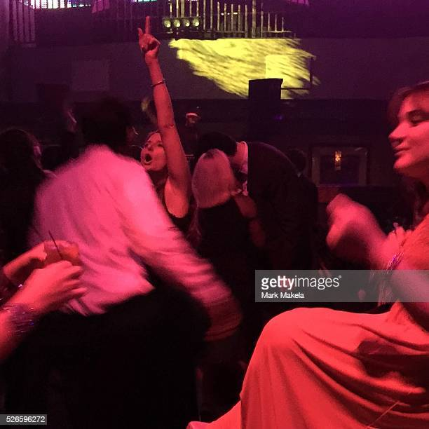 Men and women dance at a private party at Revel Casino in Atlantic City NJ in October 2014