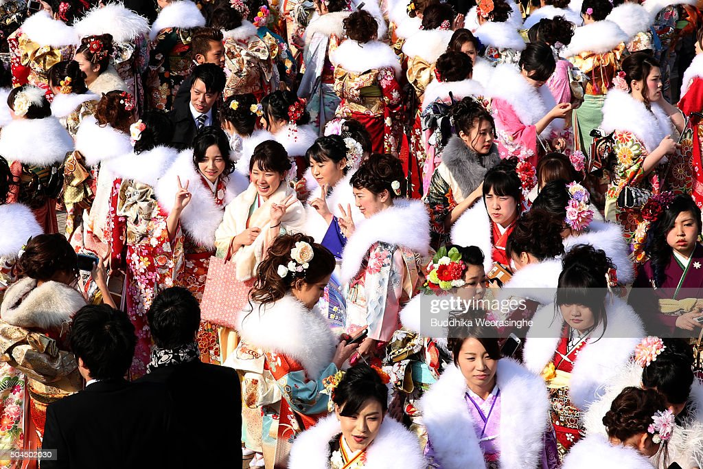 People Celebrate Coming of Age Day In Japan : News Photo