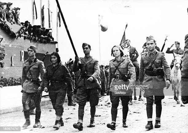 Men And Women Soldiers Of Albanian Liberation Forces During World War Ii Partisans
