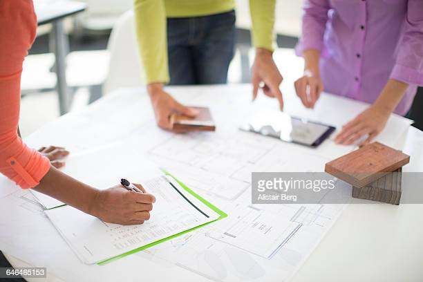 Men and women working together in an office
