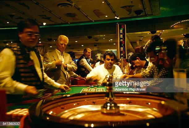 Men at Roulette Table