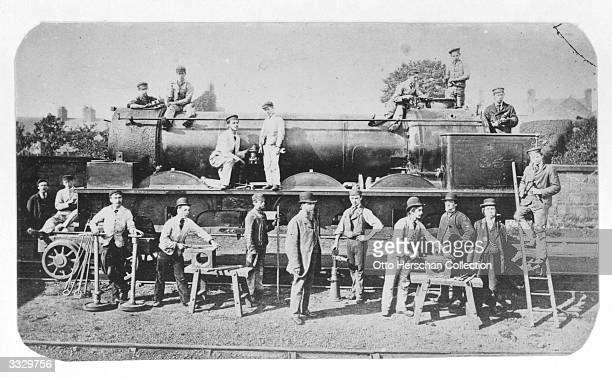 Men at work in the Great Western Railway works in Swindon