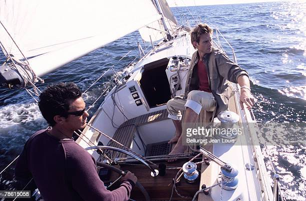 Men boating